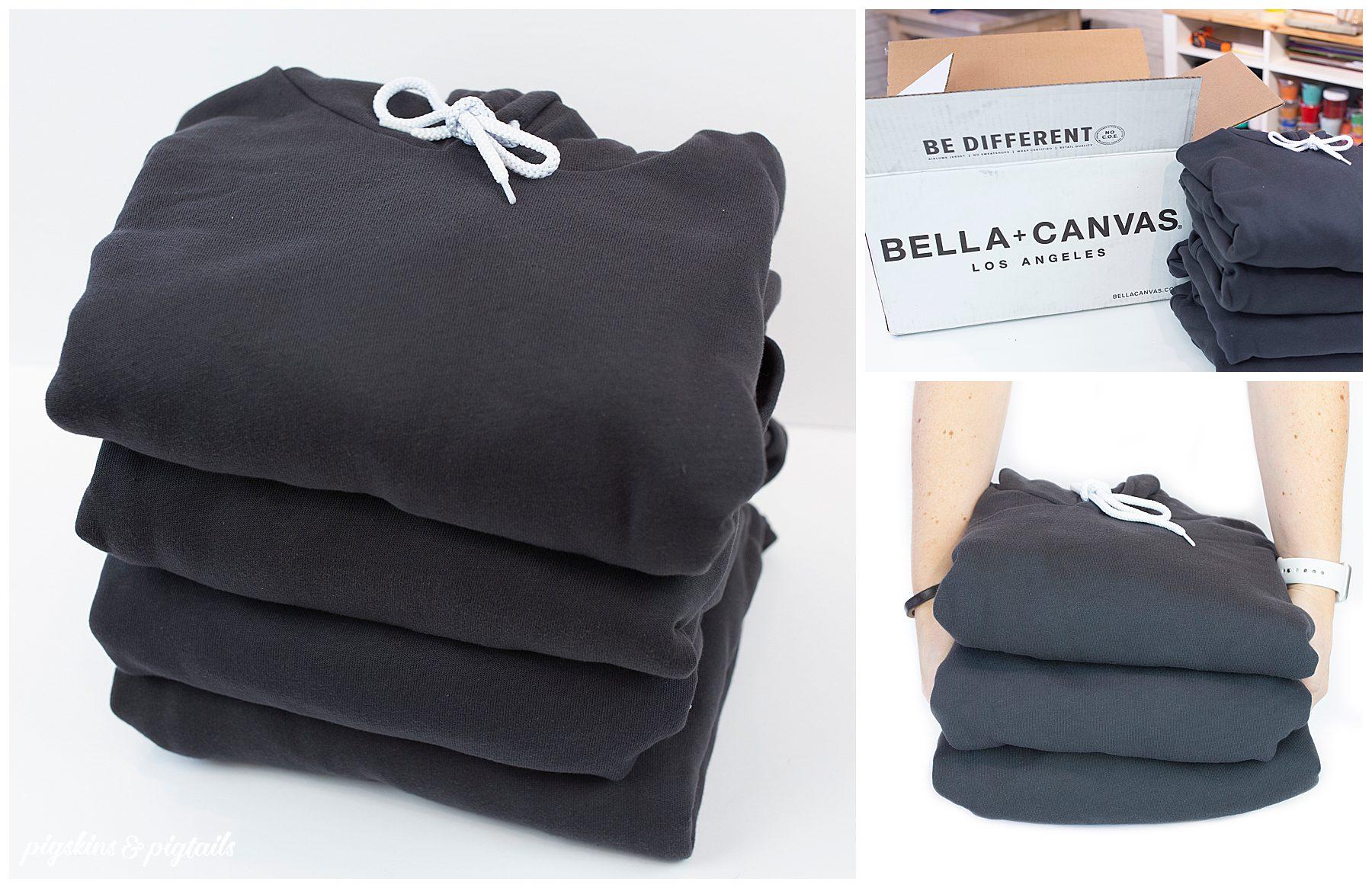 bella canvas street fleece hoodie screen printing