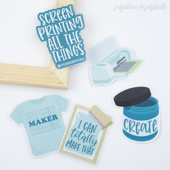 crafter screen printing vinyl cricut maker stickers