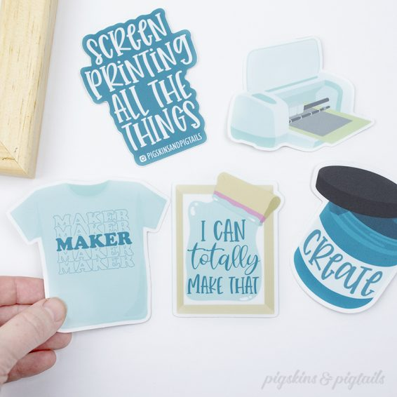 screen printing maker vinyl stickers crafter