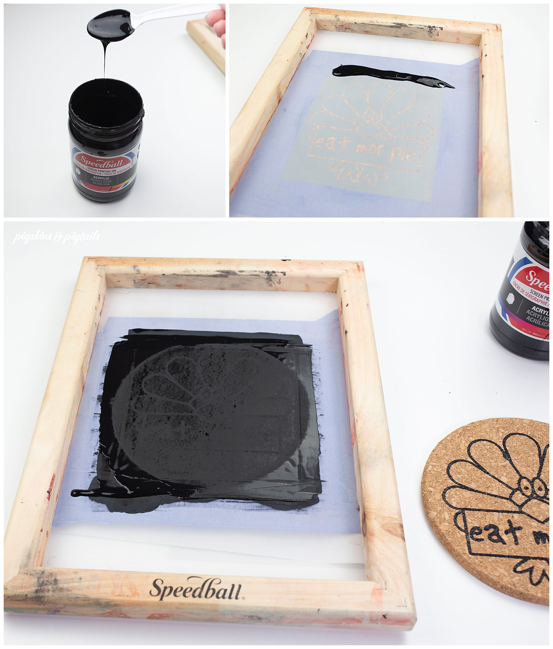screen printing on cork how to