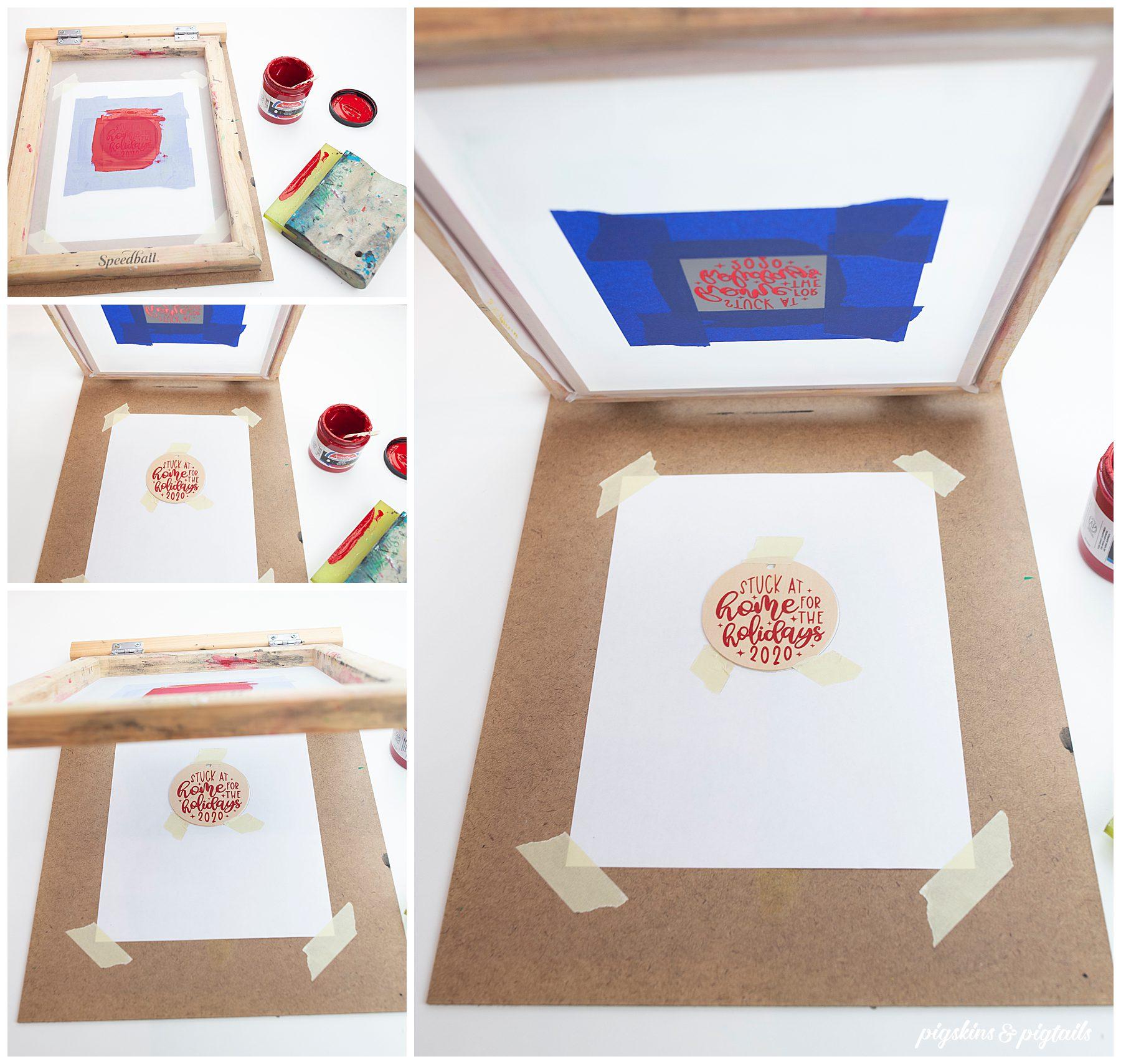 screen printing on wood cricut vinyl how to tutorial