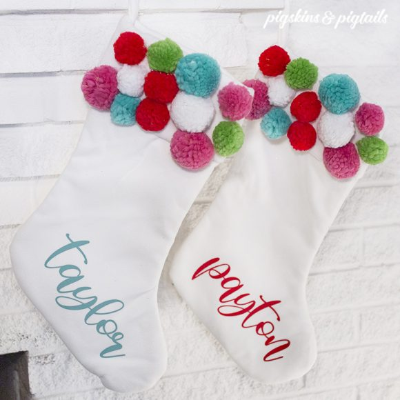 screen pritning stockings names how to add christmas diy