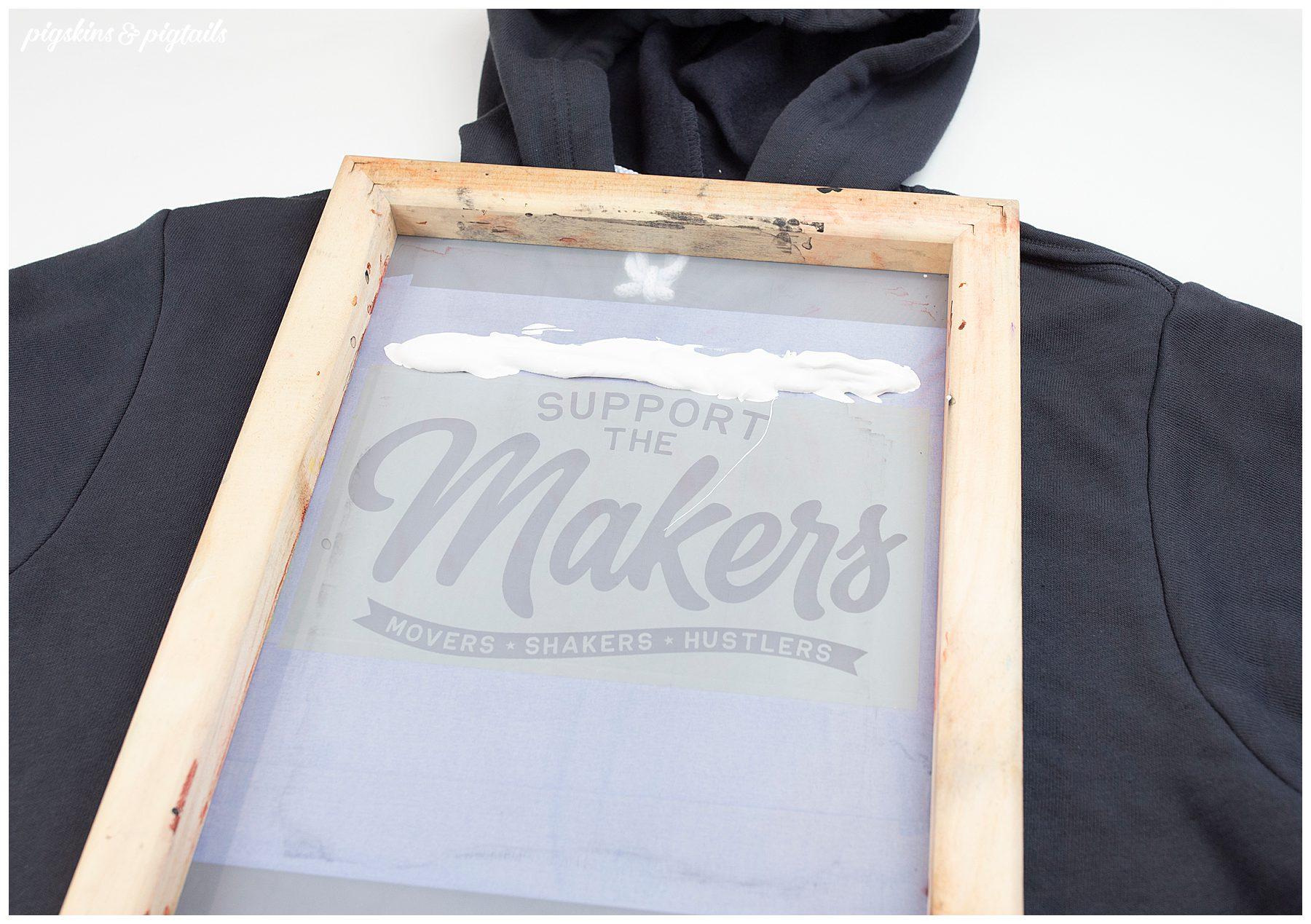 screen printing vintage worn washed look