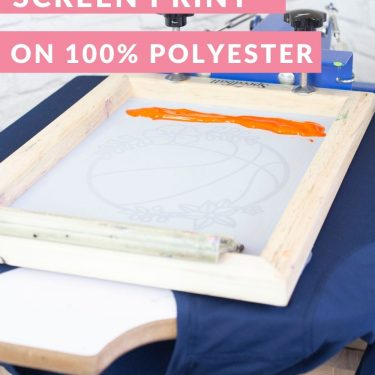 how to screen print on polyester water based speedball inks