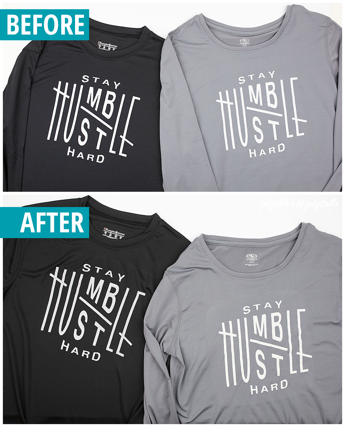 athletic shirt screen printing with vinyl tips