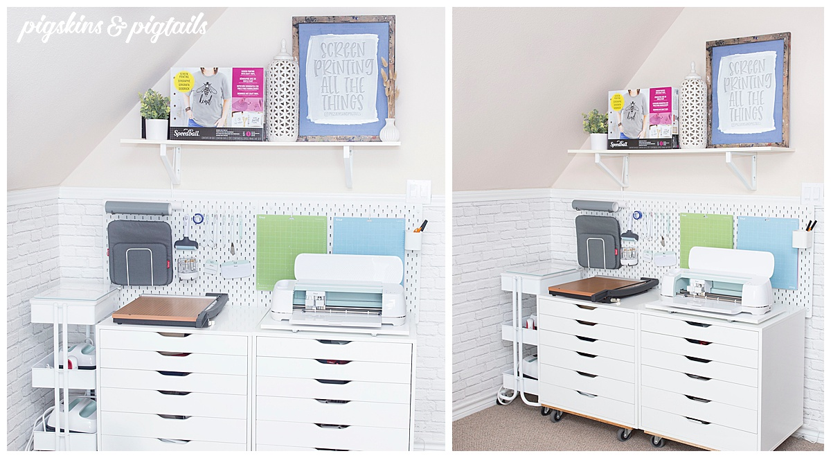 cricut organization storage pegboard craft supplies