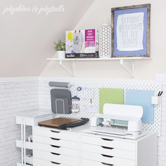 pigskinsandpigtails cricut storage organization ideas pegboard