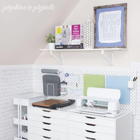 pigskinsandpigtails cricut storage organization ideas pegboard