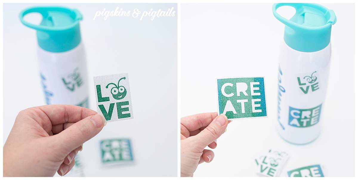 glitter stickers with cricut oracal 851