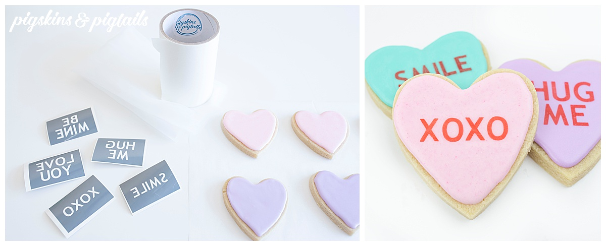 how to screen print cookies with wording