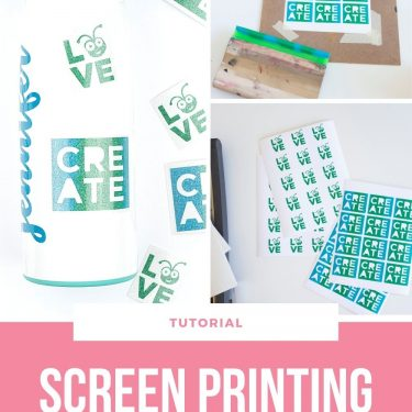 how to screen print glitter stickers with cricut