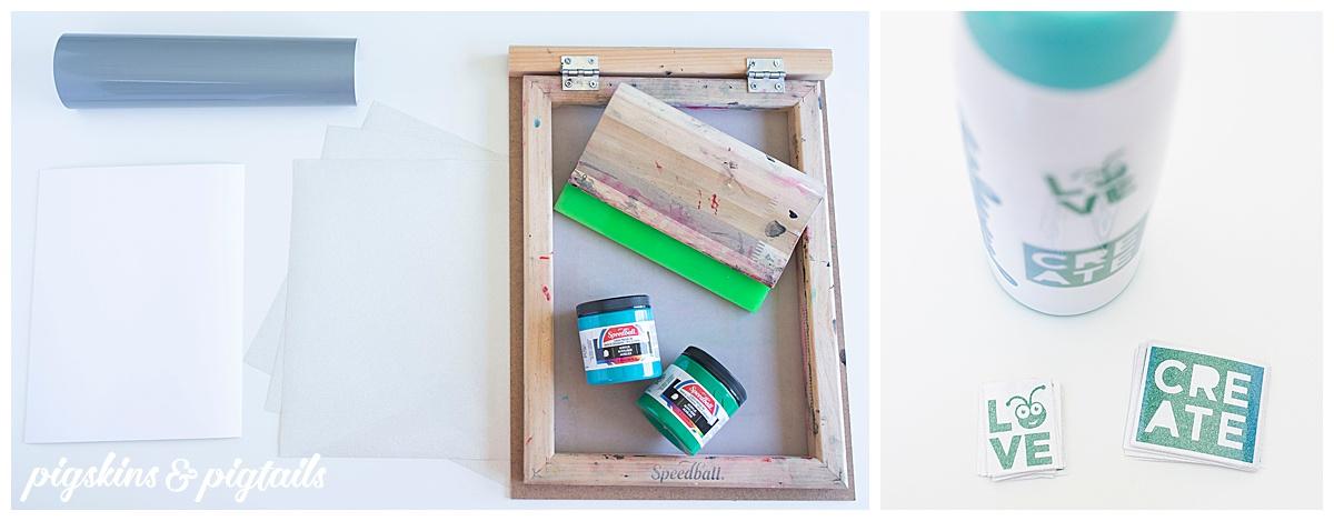 screen printing stickers cricut vinyl