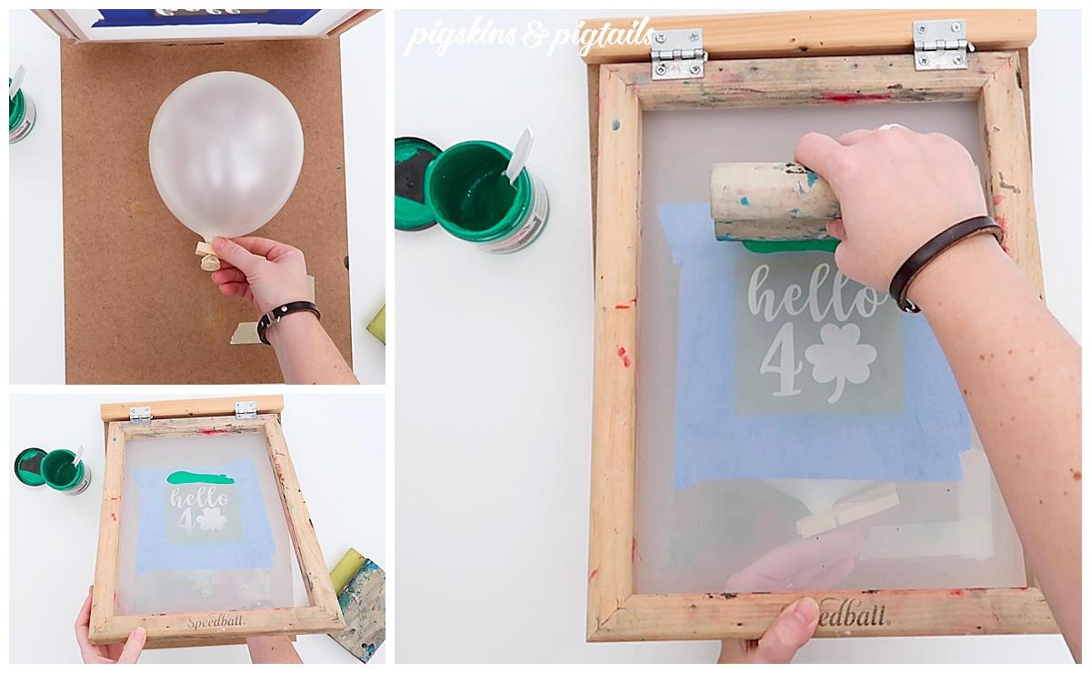 screen printing balloon cricut diy how to