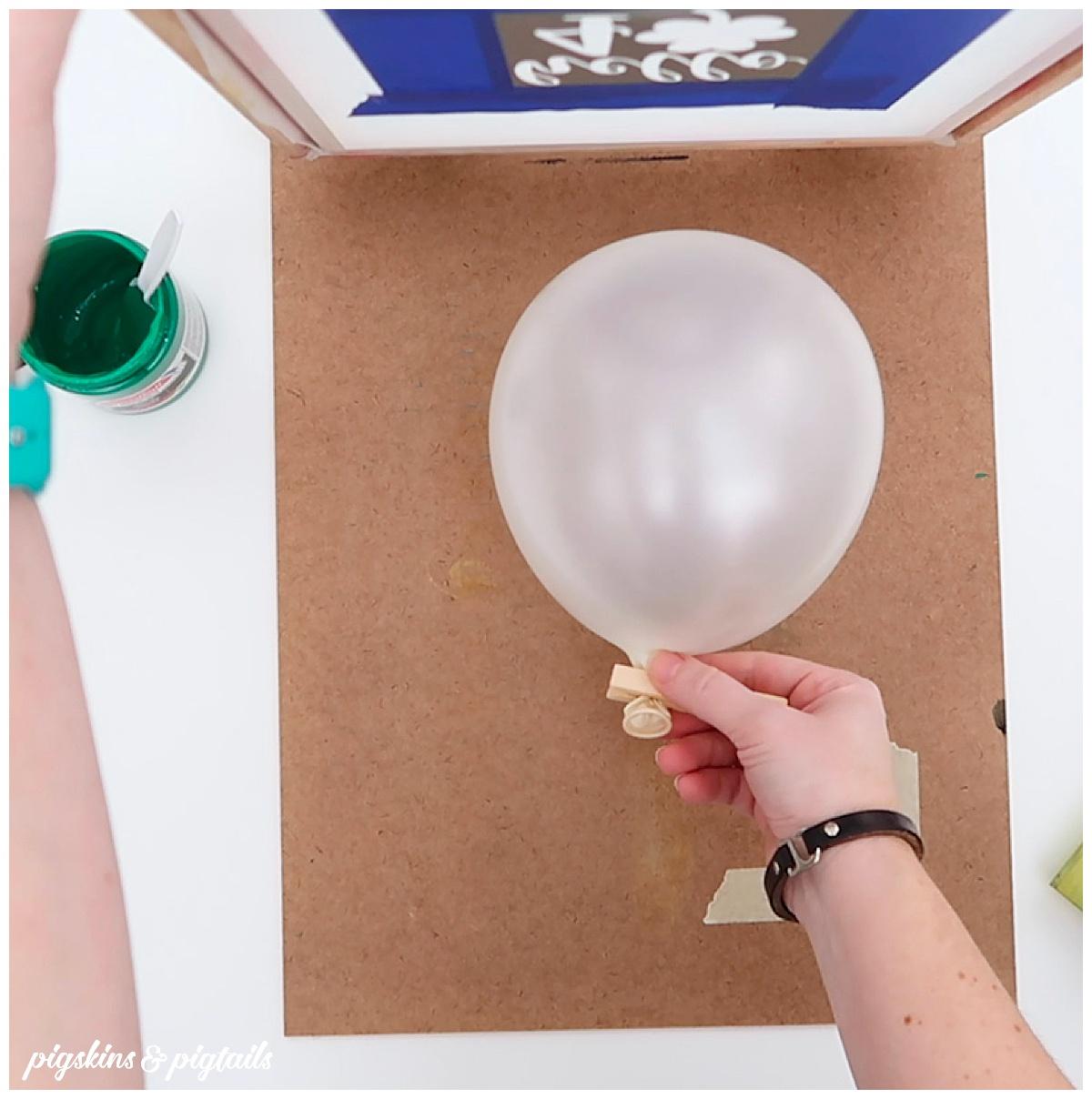 screen printing balloon diy cricut
