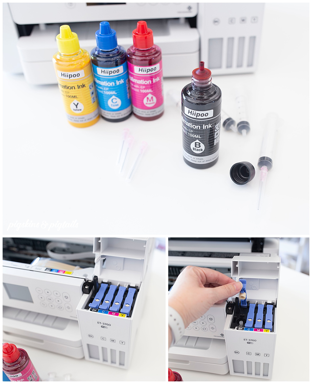 hiipoo ink sublimation setup instructions