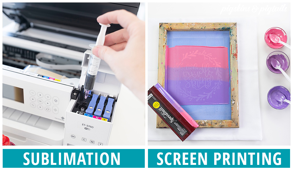 how to setup sublimation screen printing