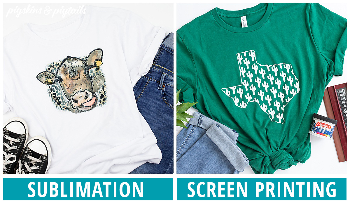 sublimation compared to screen printing