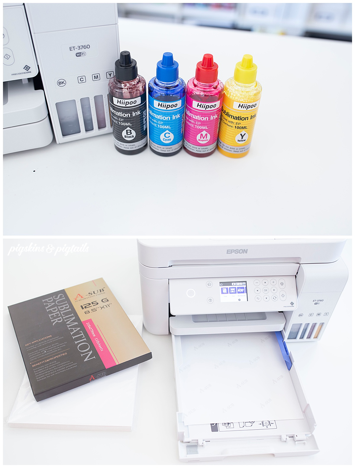 sublimation printer setup how to hiipoo ink