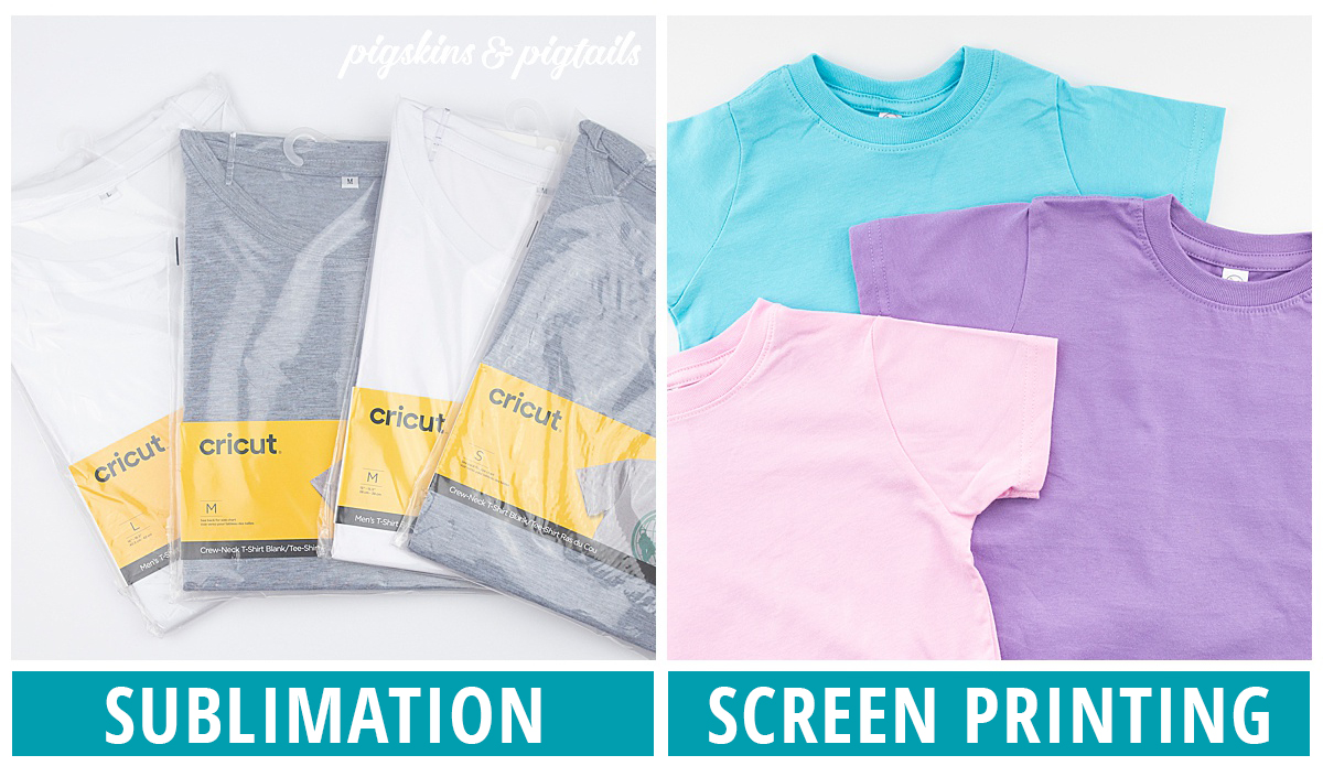 sublimation screen printing blanks types of shirts