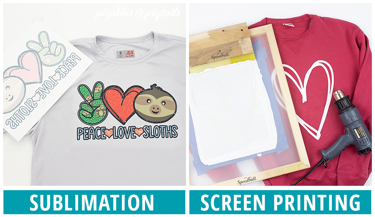 sublimation vs screen printing process diy