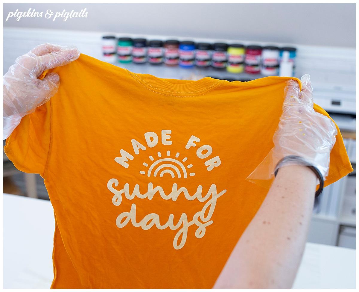 ombre dye shirt screen printed cricut