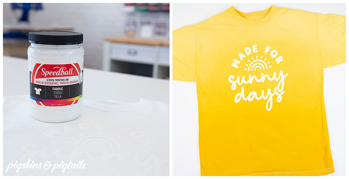 screen printing tie dye ombre diy shirt