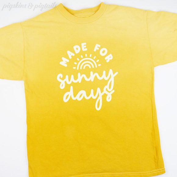 sunny days tie dye screen print ombre