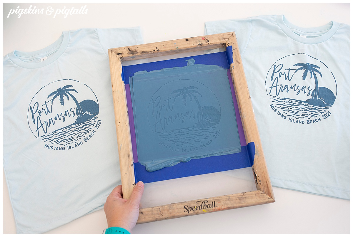 family vacation shirts how to make size screen print