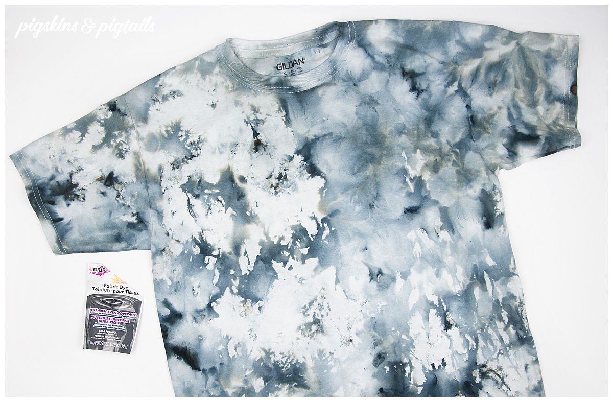 black ice dye shirt idea