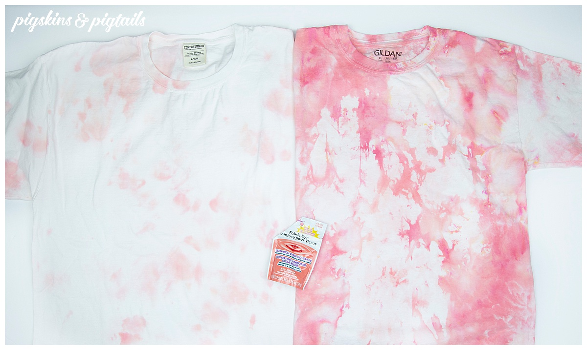 coral ice dye shirt result