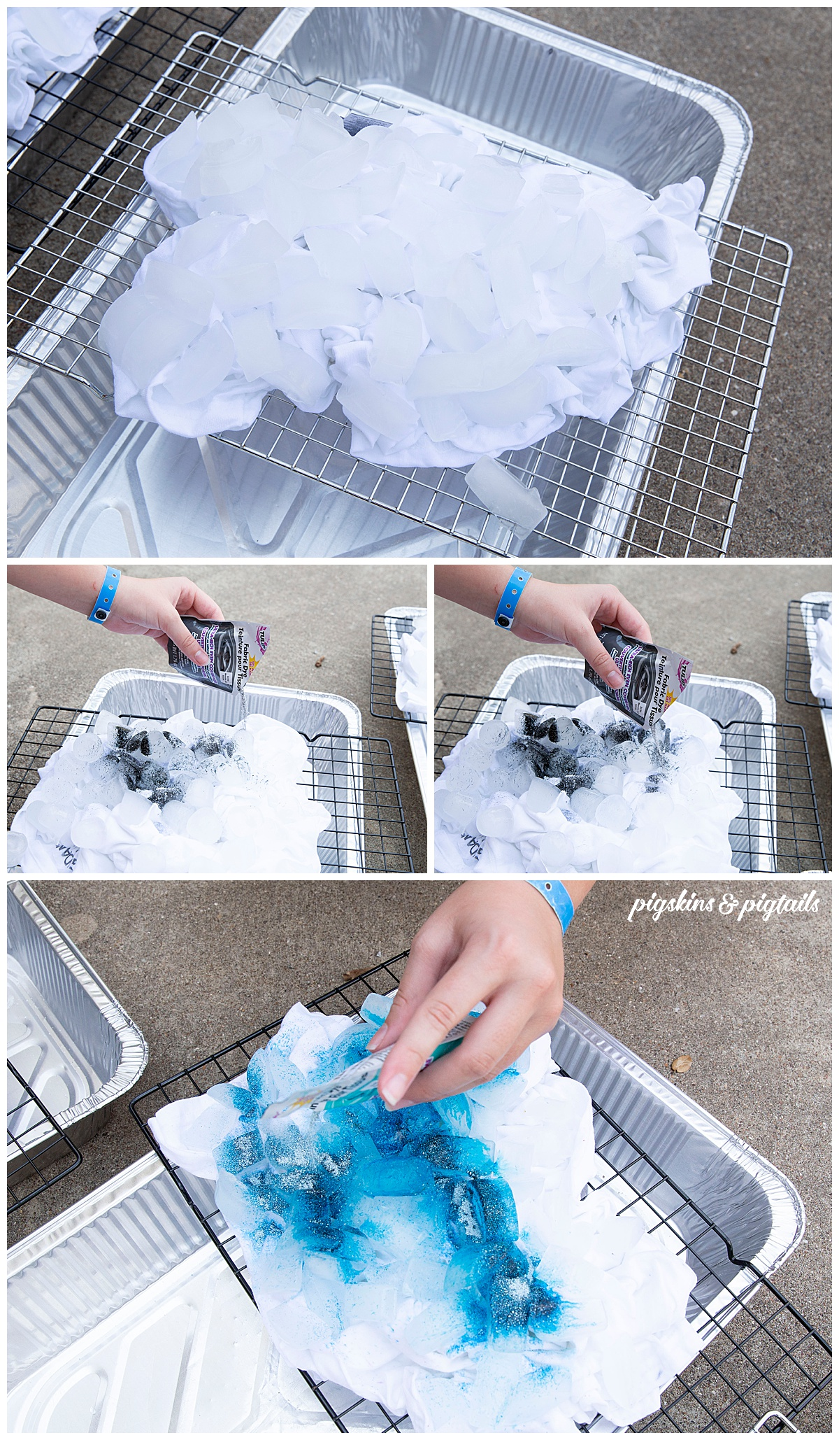 ice dyeing dying shirt