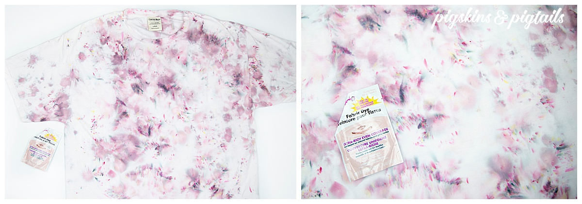 ice dyeing shirt results tips