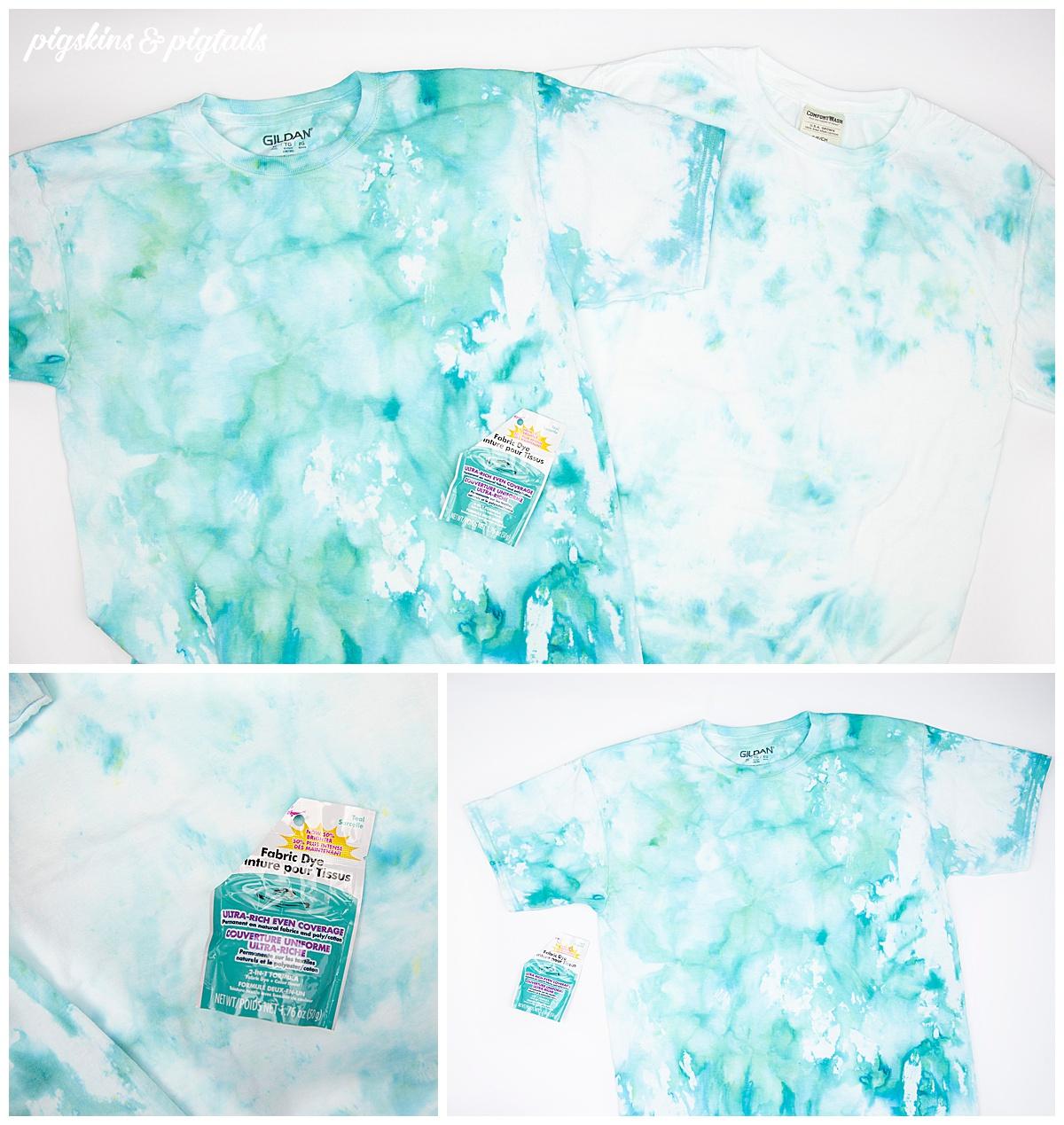 teal ice dye shirt idea