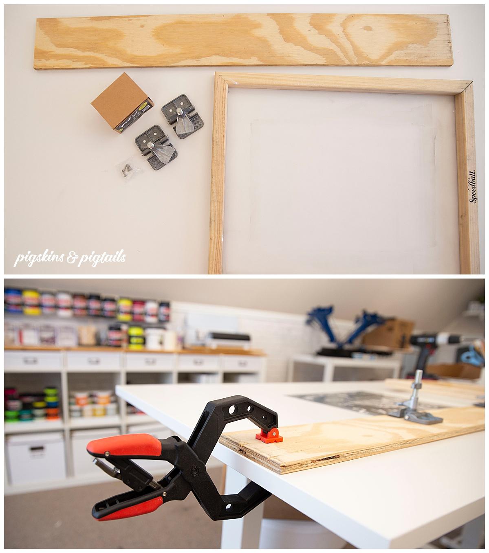 diy hinge frame setup speedball clamps