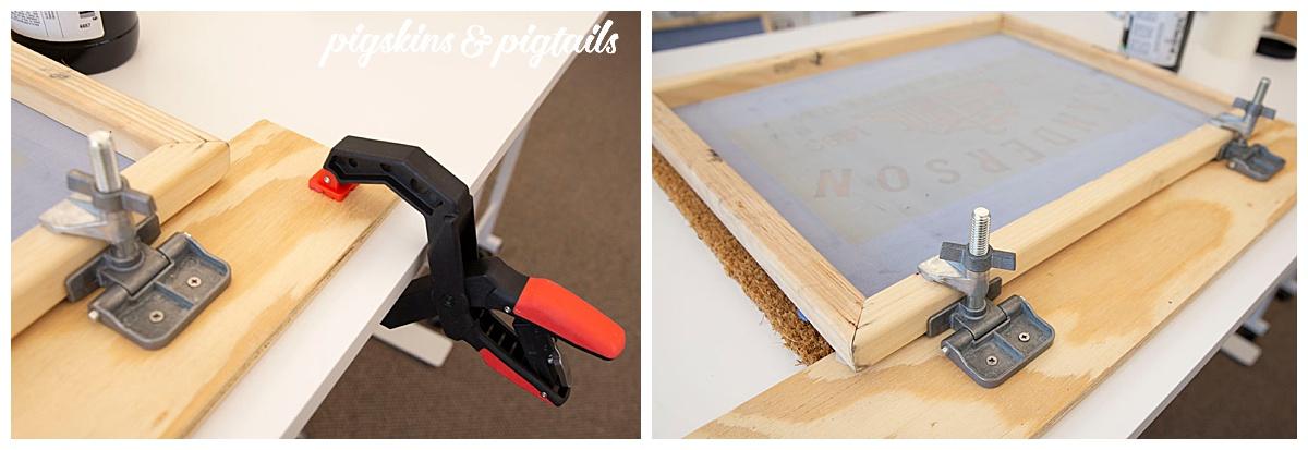 hinge frame screen printing setup instructions