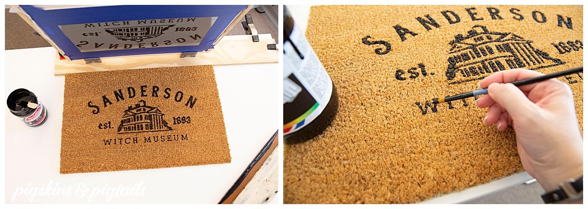 painting coir door mat easy