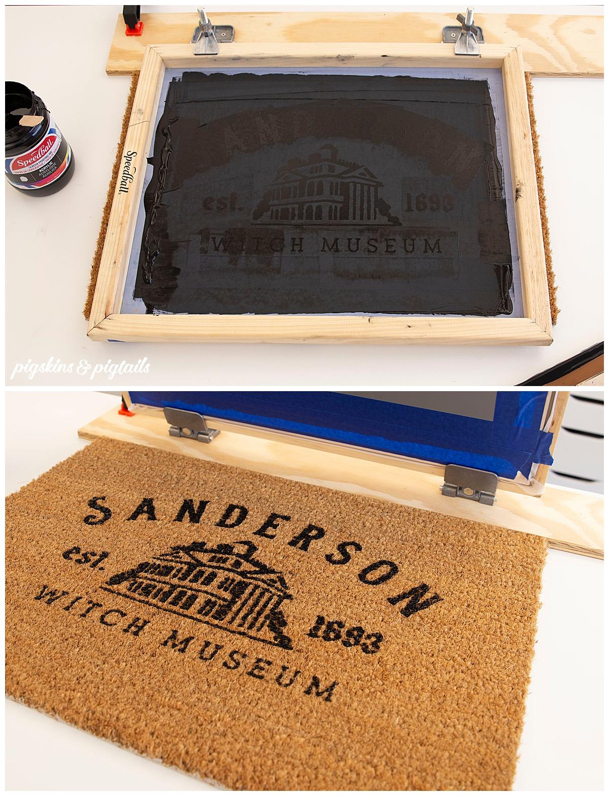 personalized coir door mat screen printing vinyl