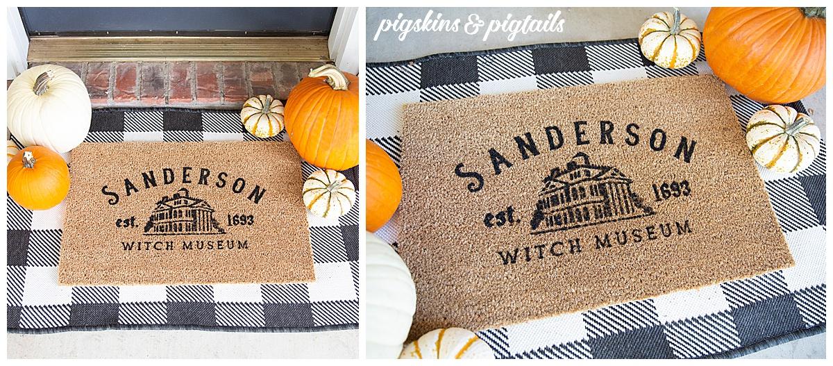 personalized fall rug screen printing tutorial